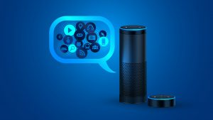 Voice search bubble with Alexa
