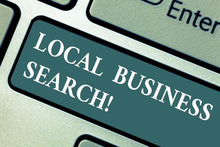 local business search button